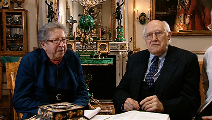 Henri Dutilleux en compagnie de Mstislav Rostropovitch
